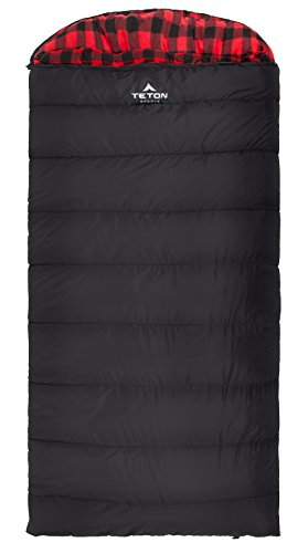TETON Sports Celsius XXL -18C/0F Sleeping Bag; 0 Degree Sleeping Bag Great for Cold Weather Camping; Black, Right Zip