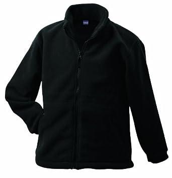 James & Nicholson Fleece - Chaqueta Forro Polar Para Hombre, Tamaño XXXXL, Color Negro