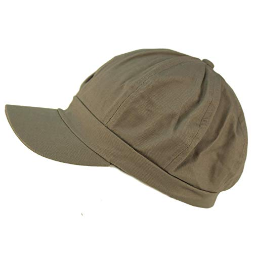 - Summer 100% Cotton Plain Blank 8 Panel Newsboy Gatsby Apple Cabbie Cap Hat Gray