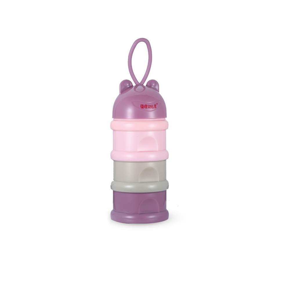 Decdeal Milchpulver Portionierer Säuglingsnahrung Kasten Tragbare Milchkasten BPA-Frei, 3 Fächer 3 Fächer