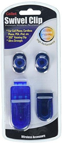 Cellet Blue Swivel Belt Clip for Car Mount, GPS, Walkie-Talkie, Apple iPhone Xr/Xs/Xs Max/X/8/8Plus/7/6 Samsung Note 9/8/5/S9/S9+/S8+/S8/S7/J7/J3/ LG K20 V/Q7+/Stylo 4/3/2/Q Stylus/V35 ThinQ/V30