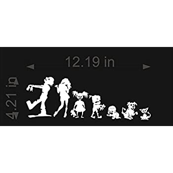Amazoncom Skull Family Car Decal  Sticker Automotive - Family decal stickers for cars