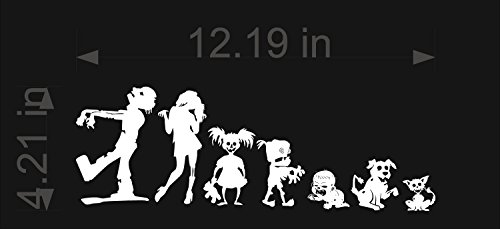 [ZOMBIE-Stick-Figure-Family-Vinyl-Decal-Sticker-Car-Window-Wall-The-Walking-Dead] (Zombie Family Decals)