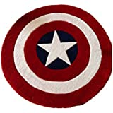 Norson Round Rugs Captain America Shield Carpet Office Circular Mats Circular Living Room Bedroom Carpet (160cmX160cm)