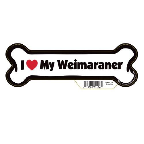 (Weimaraner Dog Bone Magnet)
