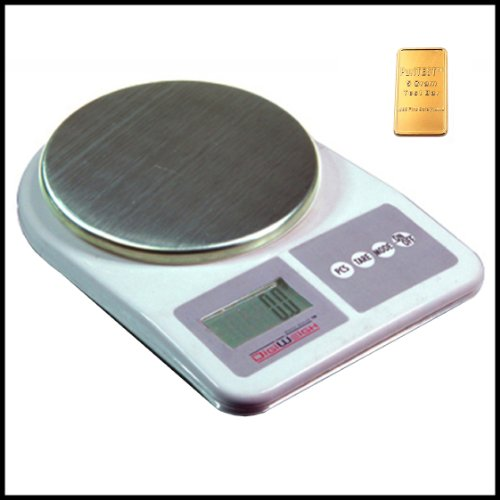 DigiWeigh Dwp-1001 Digital Table Top Jewelry Scale 1000x0.1g, Lock, Silverplate, Case, Handpainted, - Case Jewelry Lock Body
