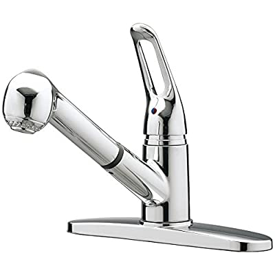 Aqualife Kitchen Faucet Single Handle - Detachable Head with Spray Hose - Stainless Steel - Chrome Finish