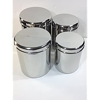stainless steel canister sets kitchen amazon com qualways jumbo stainless steel kitchen canister set of 4 set of 4 6 5 lb 5 lb 4 3828