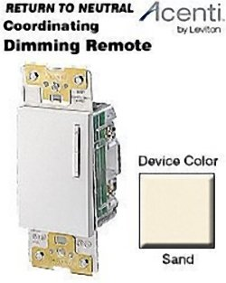 Leviton AC00R-10S, Acenti Coordinating Remote Dimmer/Fan Speed Control, 3-Way or more applications, ()