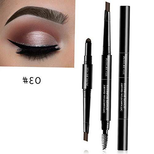 Kaputar 3 in 1 Eye Brow Set for Women Waterproof Brow Pencil + Powder + Brush Makeup Kit | Model MKPBRSH - 3383 |