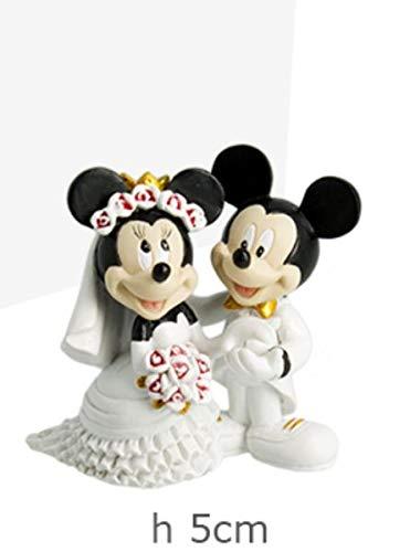 Bomboniere Disney Matrimonio.Disney Coppia Di Sposi Resina Minnie E Topolino Bomboniera