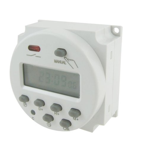 SODIAL(R) DC 12V Digital LCD Power Programmable Timer Time Switch Relay 16A Amps