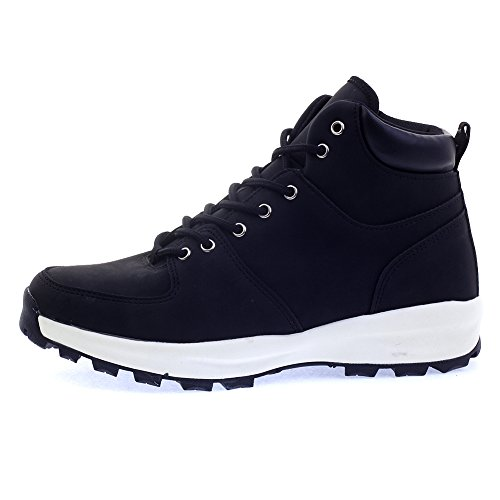 Mens Black Plain High Top Sneakers Ankle - Black Plain Boots Shopping Results