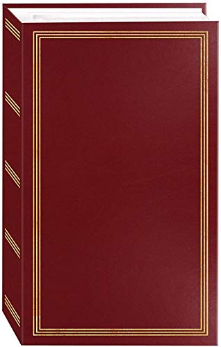 Burgundy Refillable (Photo Albums Pioneer Classic 3 Ring Photo Album with Burgundy Cover, Holds 504 Photos, 3 per Page)