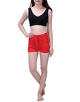Hde Women's Retro Fashion Dolphin Running Workout Shorts (Red, Medium) 5