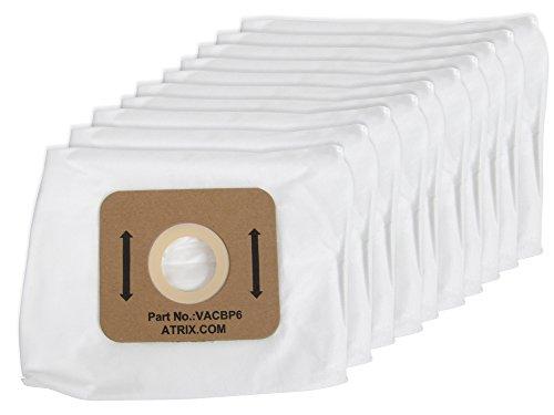 Hepa Backpack (Atrix - VACBP610P Backpack Vacuum 8-Quart Replacement HEPA Filters (10-Pack))