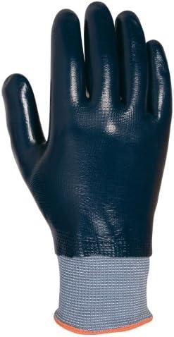 Juba Guante nylon junit con recubrimiento nitrilo azul talla 9