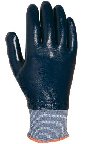 Juba - Guante nylon junit con recubrimiento nitrilo azul talla 9 AC5-440FC/9