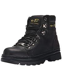 """AdTec Women's 6"""" Steel Toe Work Boot Black Work Boot"""