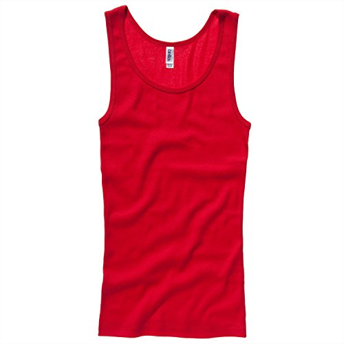Bella Canvas Baby rib tank Top - Red - XL