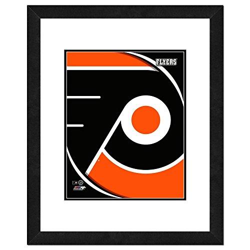 NHL Philadelphia Flyers Team Logo Double Matted & Framed Photo, 22.5