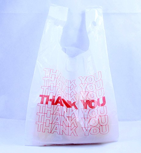 R Noble Thank You Reusable Grocery Plastic Bags 300 Count