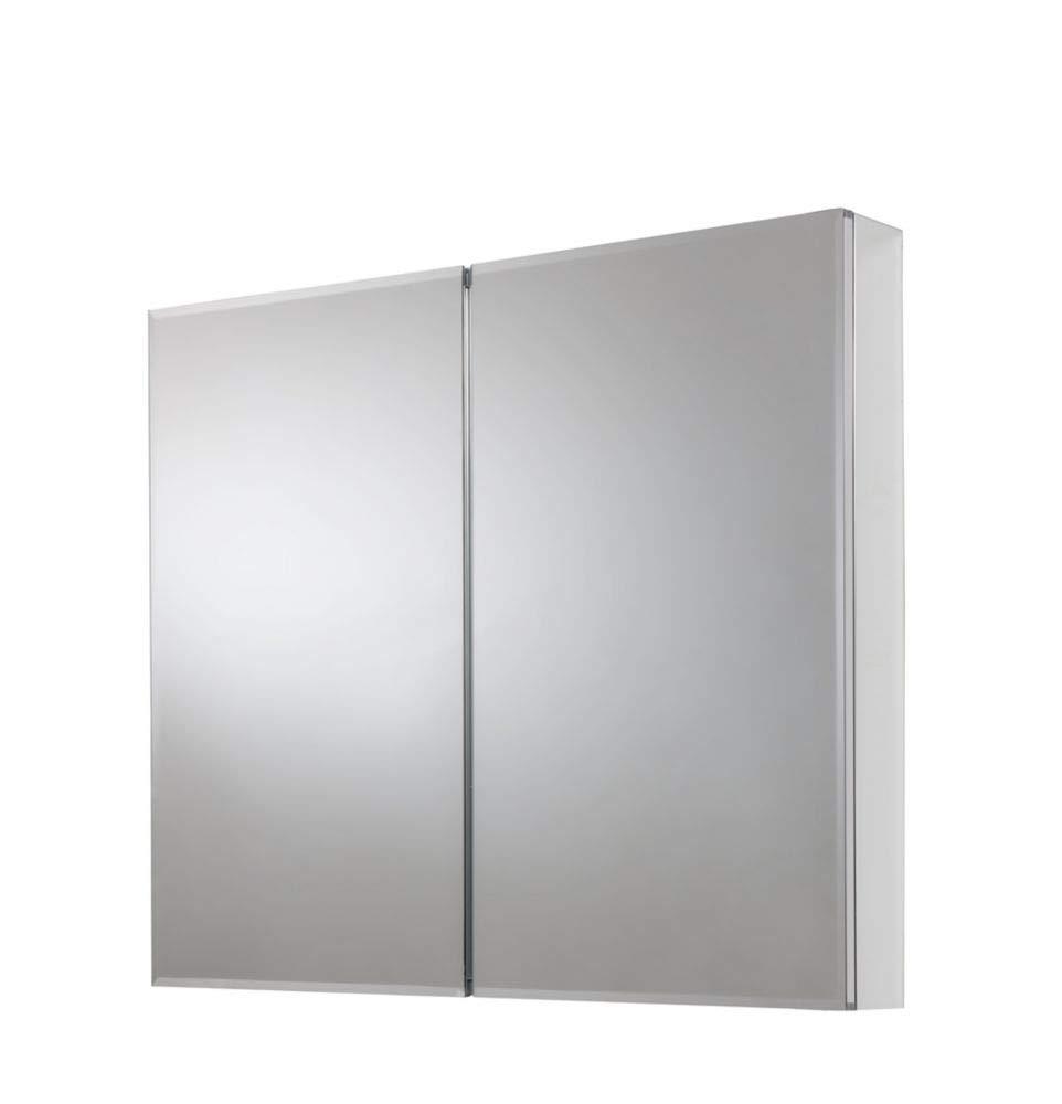LordBee New White 24'' Wide Wall Mount Mirrored Medicine Storage Cabinet Space Saving Durable Design Glass Organizer Furniture