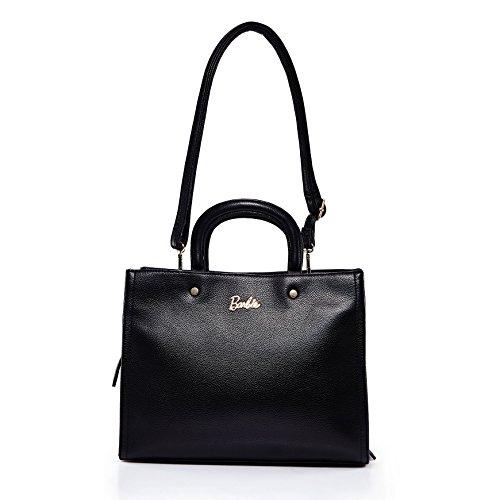 amp;Crossbody Handbag Bag BBFB477 Series Bag Women Leather Fashion OL Black Commute Simple Shoulder PU Barbie AzxF4q