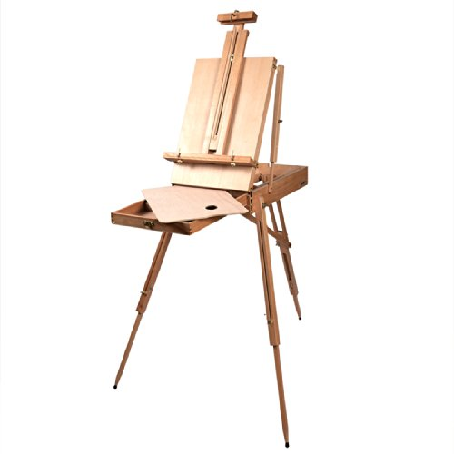 French Easel Wooden Sketch Box Portable Folding Durable Artist Painters Tripod NEW by hello world1