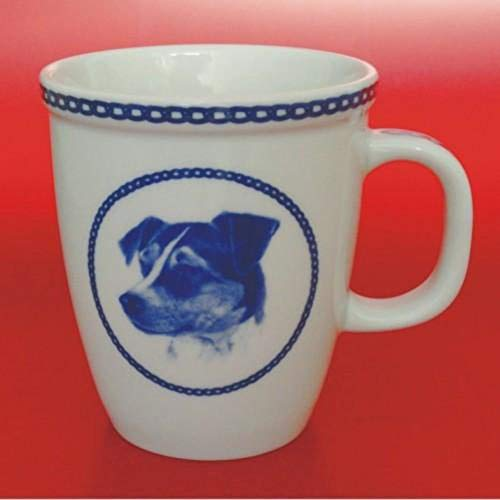 Danish Swedish Farm dog - Porcelain Mug made in Denmark Premium Quality and Design from Lekven. Perfect Gift For all Dog Lovers. Size - 4.2 inches.