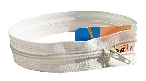 Full Funk YKK Quality Thai Brand Zipper Zip - Bulk Wholesale Pack Select Length, 13 inch Length - 1 Zip, Ivory Cream (Generic 1% Cream)