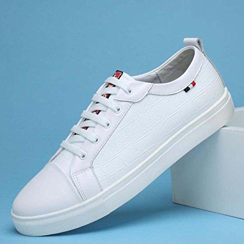 ZXCV Zapatos al aire libre Zapatillas de cuero para hombre White B