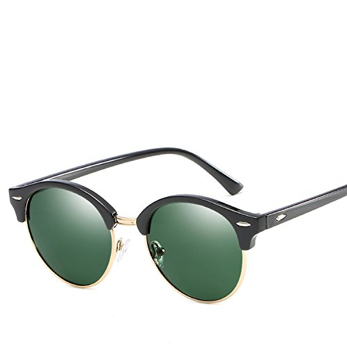 Sunglasses Mi nail decorative round frame trend sunglasses Men and women personality too ()