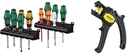 Wera Kraftform XXL, Schraubendreher Set 12-teilig, 05051010001 & Jokari 20050 Abisolierzange Super 4 plus