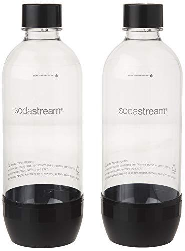 Sodastream 1l Carbonating Bottles- Black  (Twin Pack)