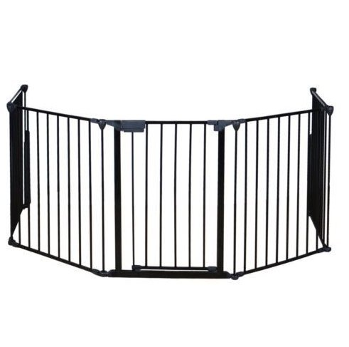 USA Premium Store Fireplace Fence Baby Safety Fence Hearth Gate BBQ Pet Dog Cat Metal Fire Gate