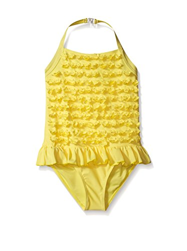 Price comparison product image Betsey Johnson Kid's Ruffle Halter Swimsuit, Yellow, 3T