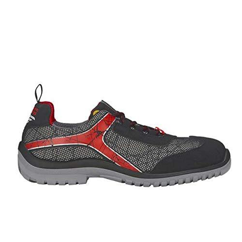 Engelbert Strauss 8P93.68.8.40 Spider Safety Shoes Size 40 Graphite/Black / Red
