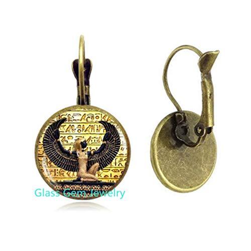 Egyptian Dangle Earrings, Ancient Egypt Jewelry, Egypt Earrings, Egyptian Jewelry,Q0071 ()