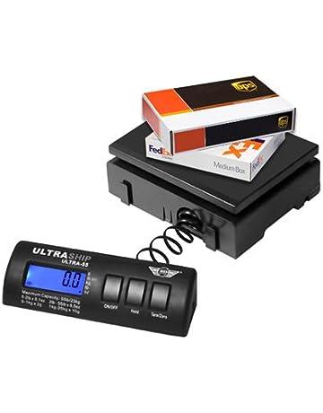 Báscula postal Ideal para pesar cartas, paquetes, 16 kg x 2 gramos, negro