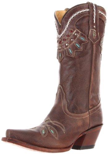(Tony Lama Women's Rancho VF6015 Boot,Chocolate,8 B US)