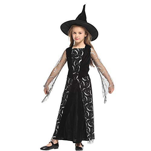 Ytwysj Costumes for Girls,Teenage Girls 2018 Halloween Cosplay Magic Witch Costume Fancy Party Black Dress