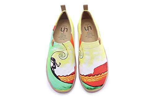 UIN Men's Hawaii Surfing Canvas Colorful Travel Loafer Shoes Yellow (9.5) by UIN (Image #4)