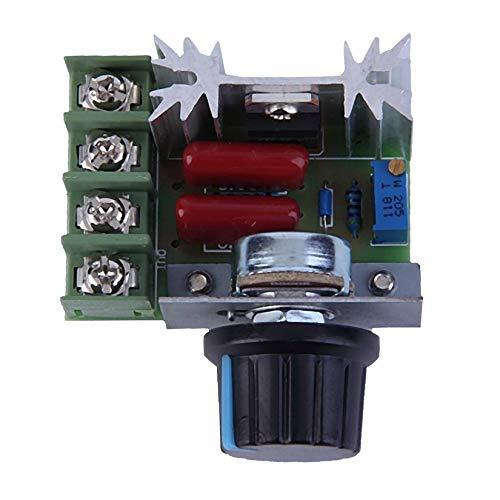 Negro Buena calidad 2000W CA 220 V SCR Regulador de voltaje electr/ónico Controlador de control de velocidad Regulador de termostato M/ódulo