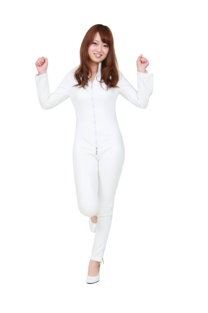 Promoción por tiempo limitado Faux leather catsuit (SR19 blanco) women LL No. (japan import)