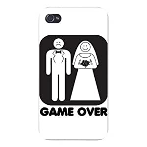 """Apple Iphone Custom Case 4 4s Snap on - """"Game Over"""