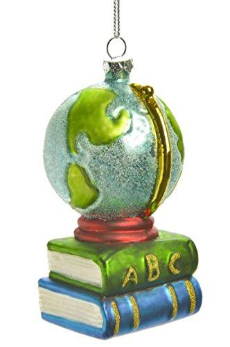 Caffco Books & Globe Education Themed Christmas Ornament (Ornaments Book Christmas)