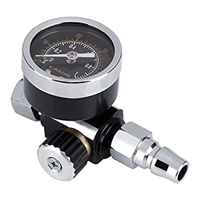 FTVOGUE 1/4 Air Pressure BSP Professional Spray Gun Control Gauge Regulator Tool