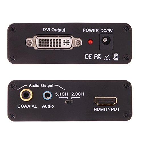 Video Conversores, NEWKENG X5 HDMI a DVI con Audio 3.5mm Coaxial Video Converter Salida: Amazon.es: Electrónica