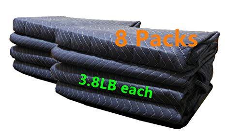 8Pack Moving Packing Blankets 82'' x 72'' Heavy Duty Professional Quality Move Pack Furniture Pads Navy Blue Color for Storage Camping Office Soundproof Protect Your Furniture During Move (40 LB/Doz) by Elysian (Image #7)